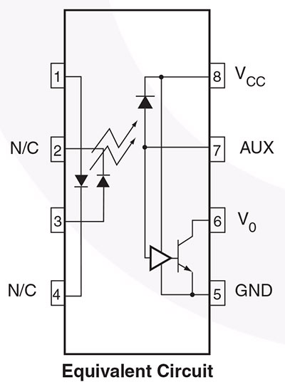 "MID400 ""AC Line Monitor Logic-Out Device"" image via  datasheet (pdf)"