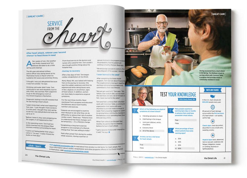 Via Christi Life Magazine - Styling / Hand Lettering / Layout Design / Photo Art Direction