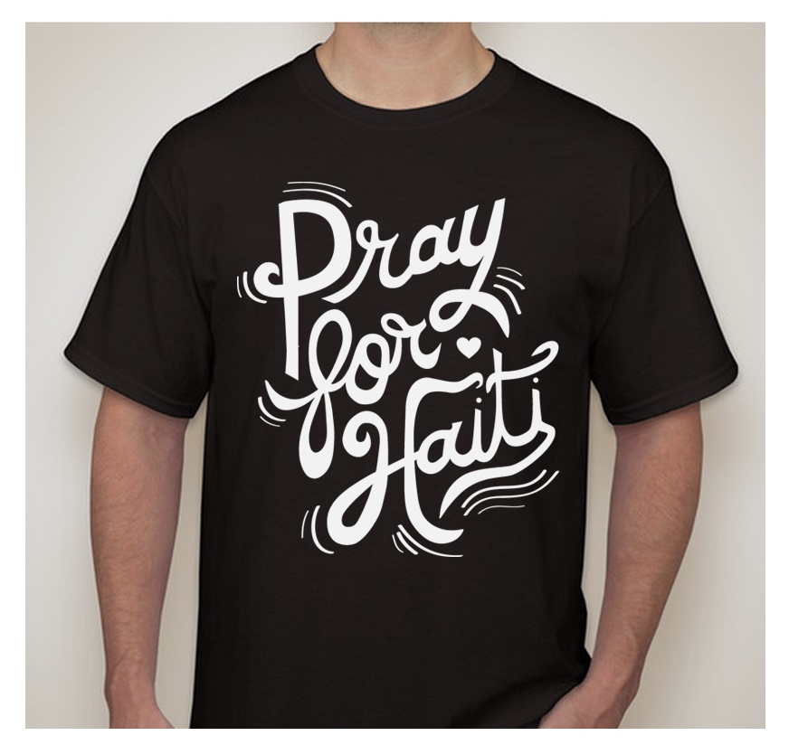 Fundraiser T-shirt - This is a design I hand-lettered to raise money for a Mission Trip to Haiti.