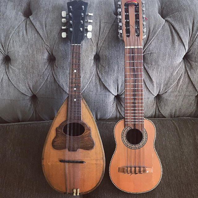 Ancient Greek music day.. #charango #mandolin #composer