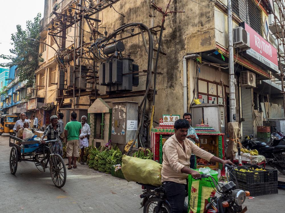 Street scene, Cochin, a city on the east coast of India