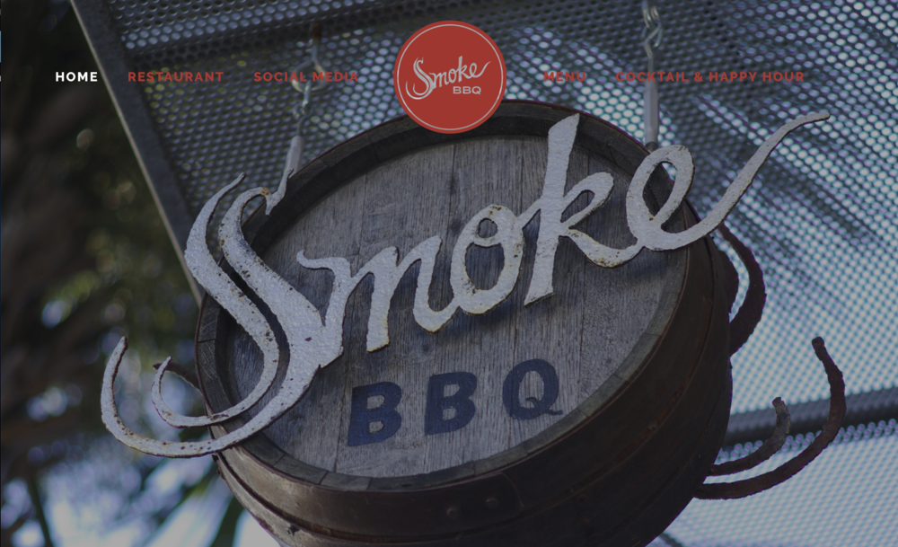 Website design and Build for   Smoke BBQ Charleston