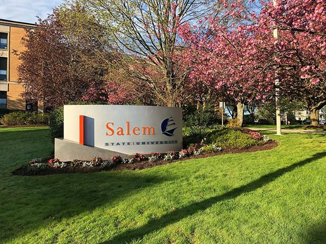 Thanks to the crews for their hard work this spring, Salem State campus is looking great!