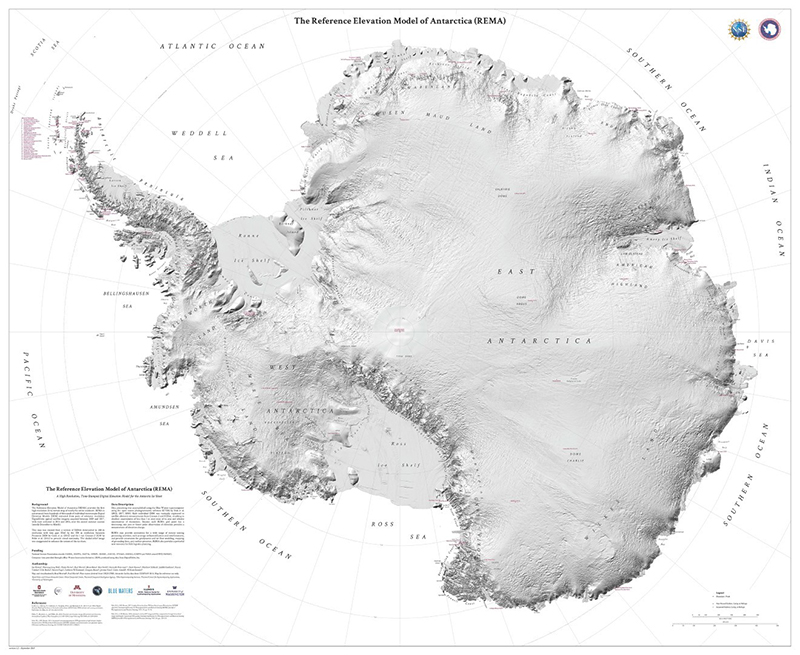 Researchers Release The Highest Resolution Antarctic Map Ever Produced - Antarctica Goes From The Least-Mapped Continent On Earth To The Best
