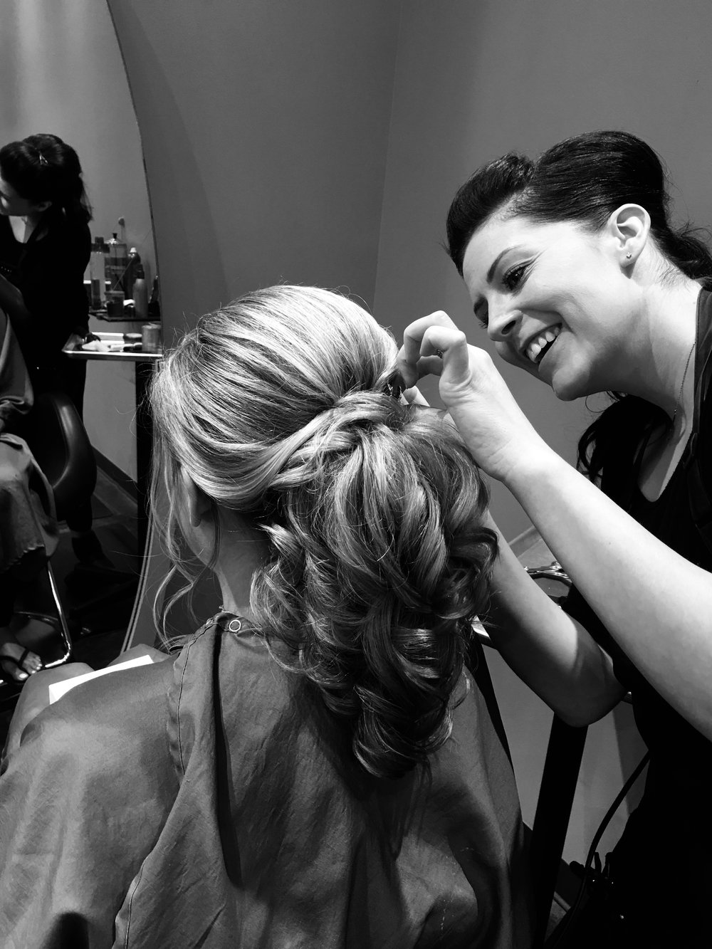 """Janine LeDonne- Master Stylist - """"Creating Beautiful Hair and making clients feel wonderful about themselves means the world to me."""" Janine loves everything about hair. She is a well seasoned Master Stylist.Janine is a listener; she takes time to really listen and understand the wants and needs of every client. Her approach to hair is as thoughtful as it is skillful. Janine is abreast of all the newest trends and busy creating her own.Janine's many talents include precision haircuts with masterful styling, exquisite balayage techniques, and flawless smoothing services. Where Janine truly shines is with beautiful special occasion hair styles. Her talent and skills are truly amazing, and done with the greatest of ease. Janine is a true artist. She specializes in Brides, Wedding parties, Proms and any Occasion that needs an extra special touch. @stylist0784"""