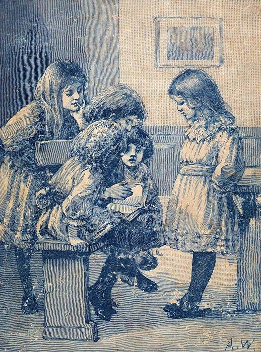 children at school reading graphics fairy