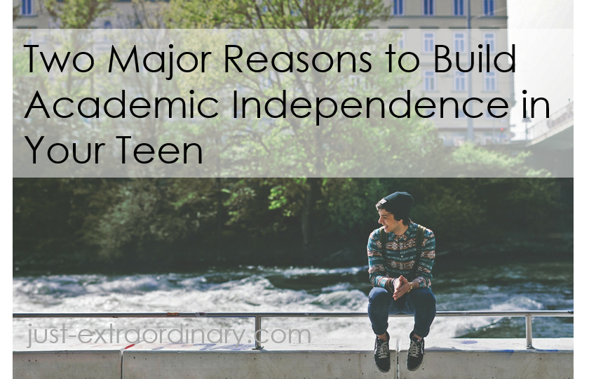 Two Major Reasons to Build Academic Independence in Your Teen just-extraordinary.com