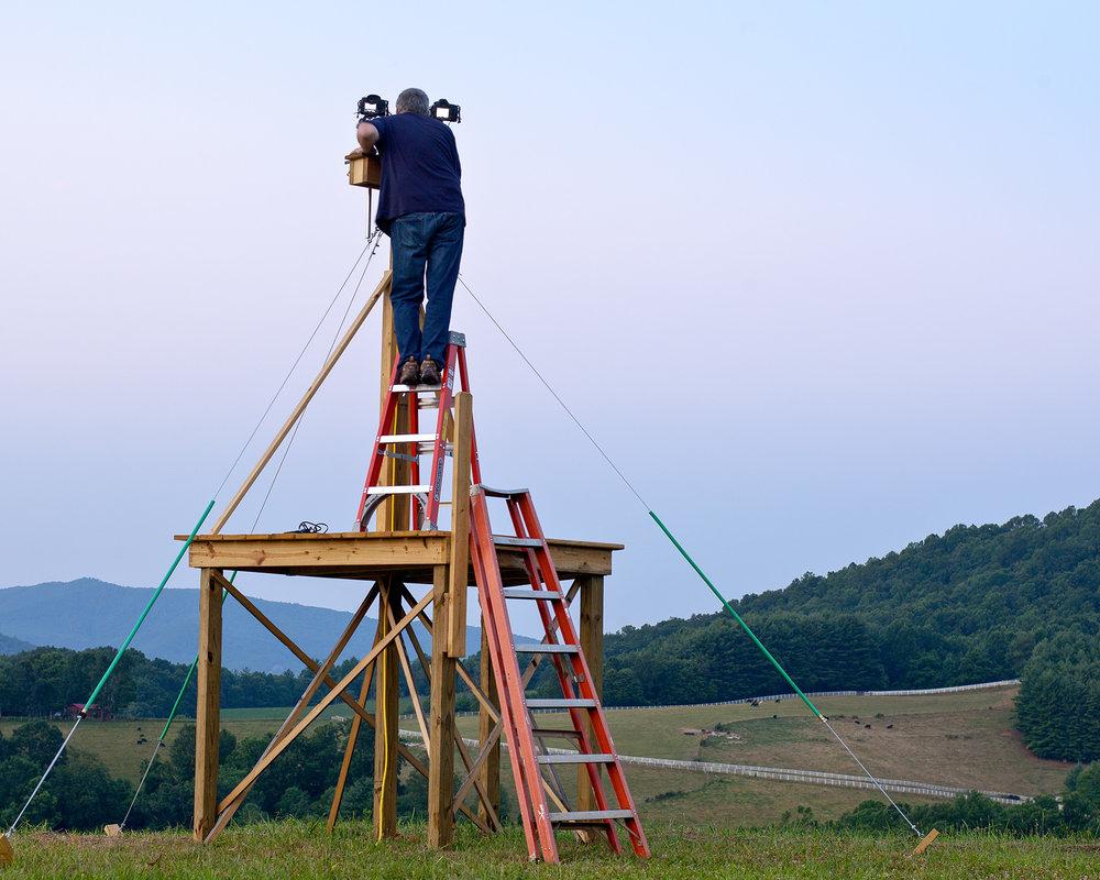 Looking Up, Shooting Sky Over Penland, Photo Jim Henkel