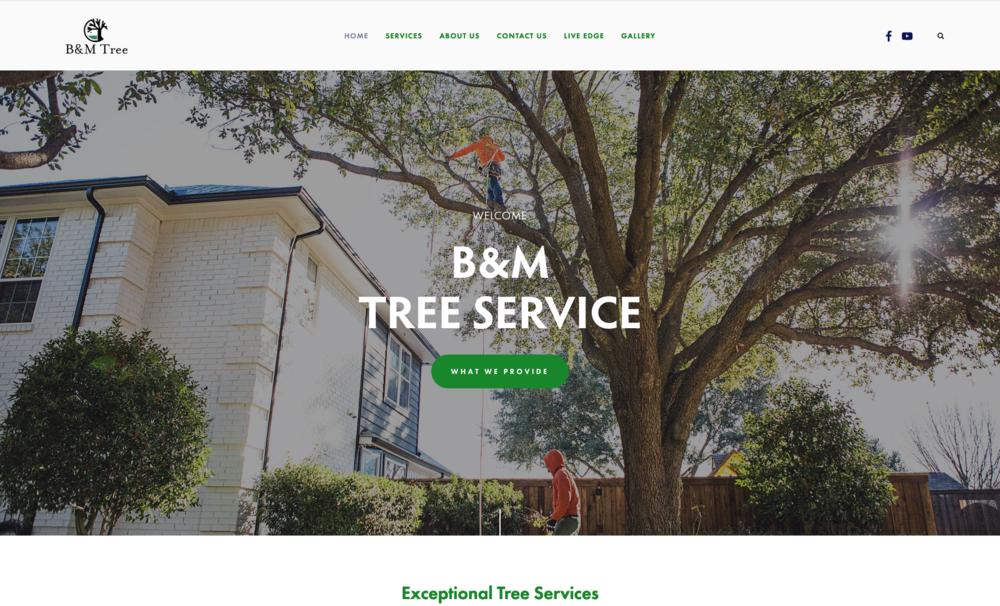 BM Tree Trim      - A Squarespace website for a local tree service company