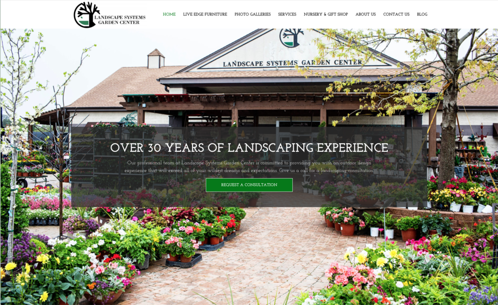 Landscape Systems      - A Wordpress website for a local Landscape Nursery. This website was half completed when I took it over. I also took over their photography, social media and blogging.