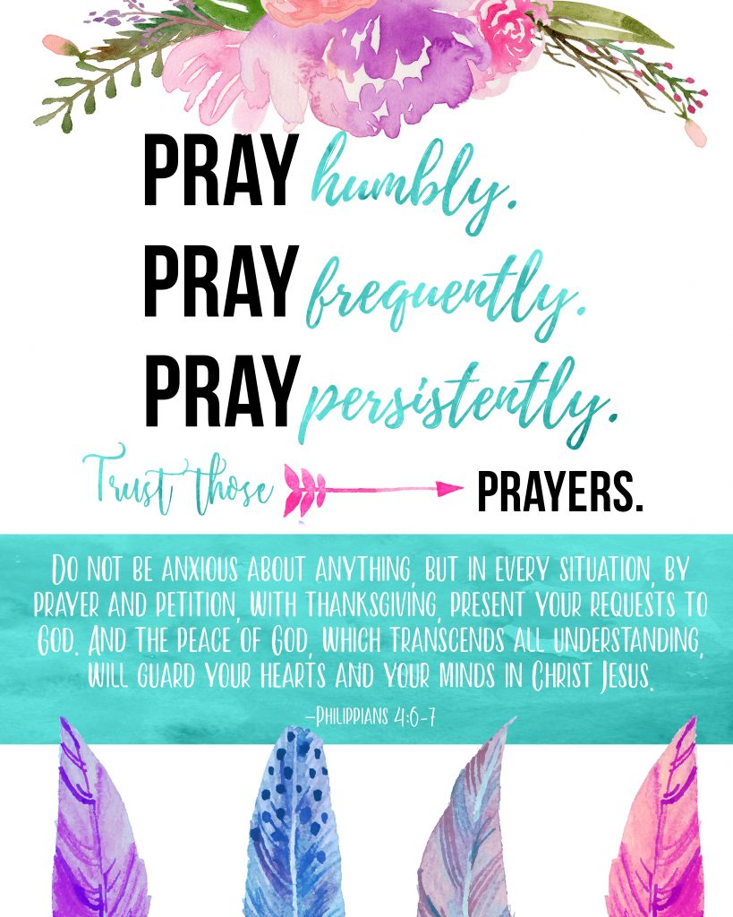 Free Prayer Sign Download from Jessica Marchetti Photography