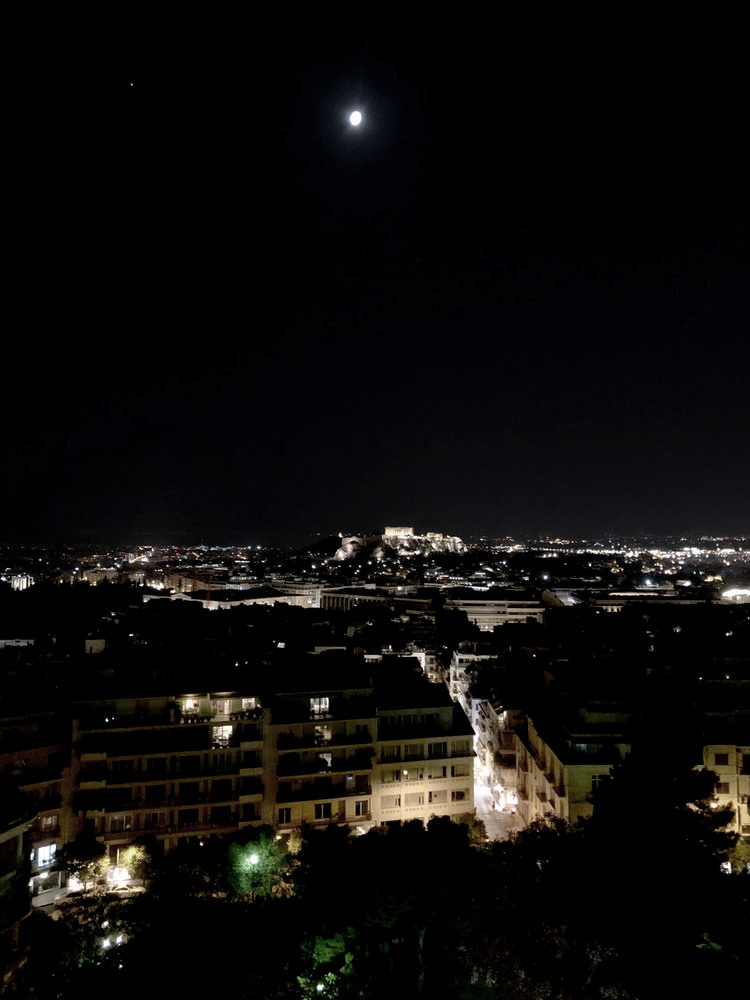 Evening view of the Acropolis
