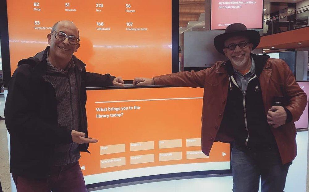 Adam Zand and Greg Peverill-Conti at the Boston Public Library