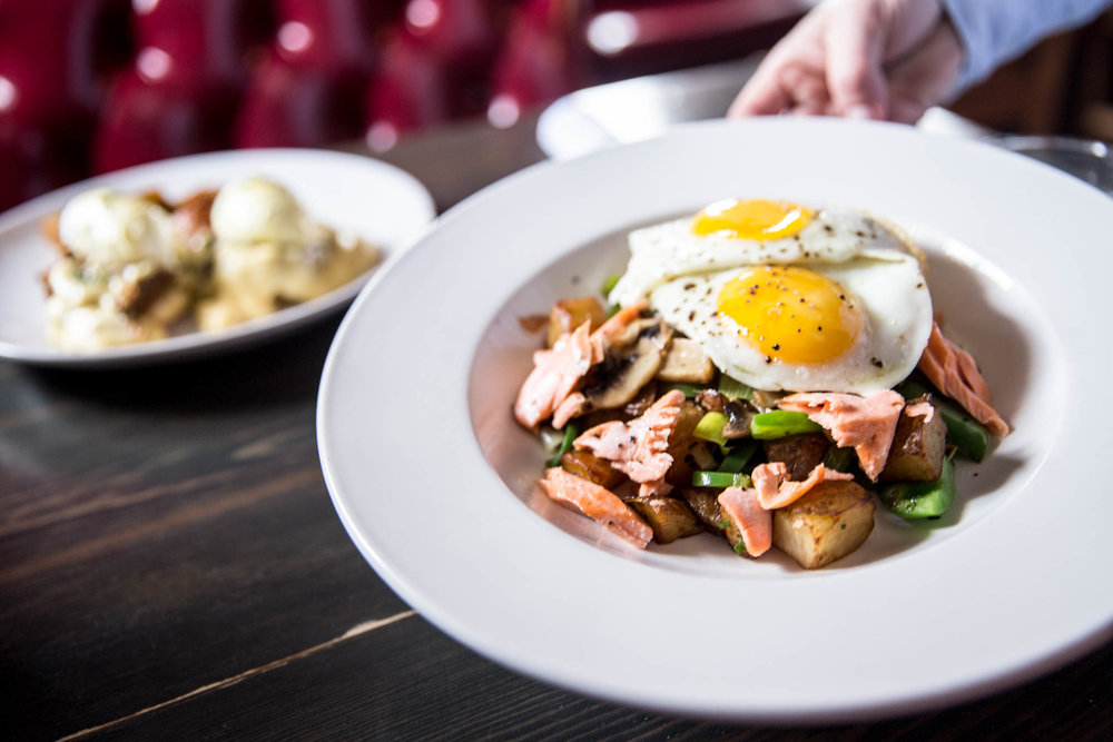 Brunch - Pop in for brunch and enjoy delicious home-style creations with locally sourced ingredients. Wash it all down with a fruity mimosa or steaming-hot cup of coffee.
