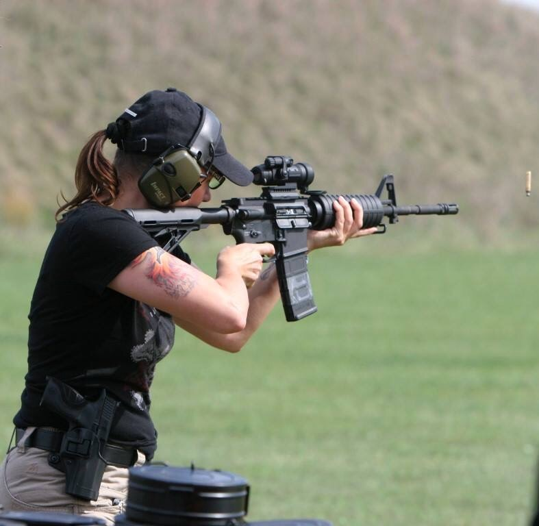 Training with rifle and pistol