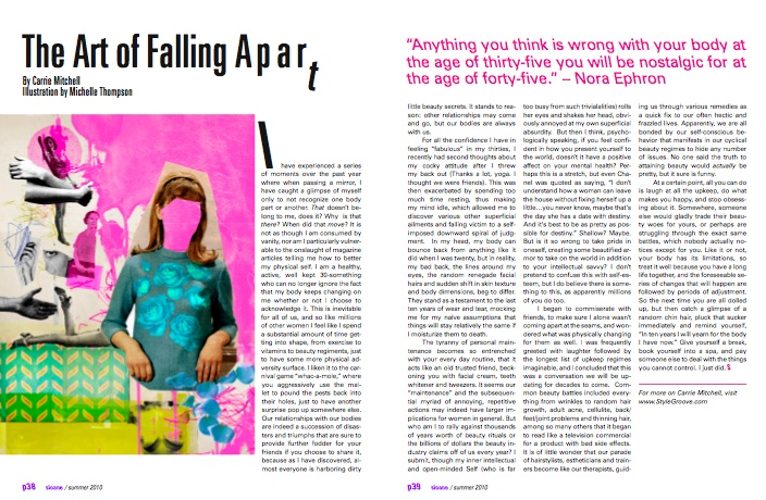 Sloane Magazine, 'The Art of Falling Apart' by Carrie A Mitchell