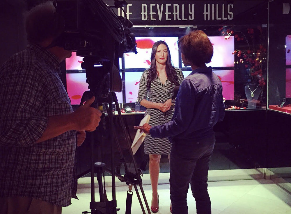 Being interviewed by CBS