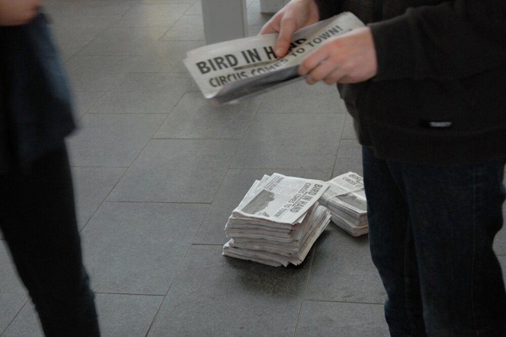 Bird In Hand - Bird in Hand was a one-day-only newspaper made by HOOP-LA for the Auckland Heritage Festival. Given out free, it prompted thinking about the changing nature of places and possible future trajectories.