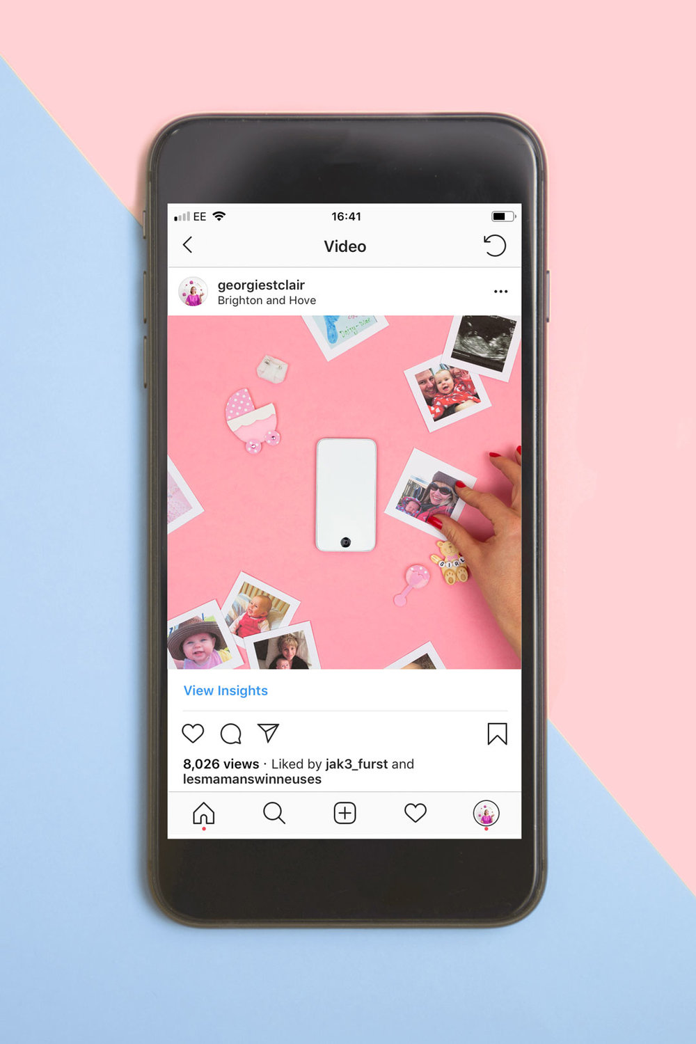 Popsa Photobook Stop Motion Animation | Instagram Phone Mockup | Georgie St Clair