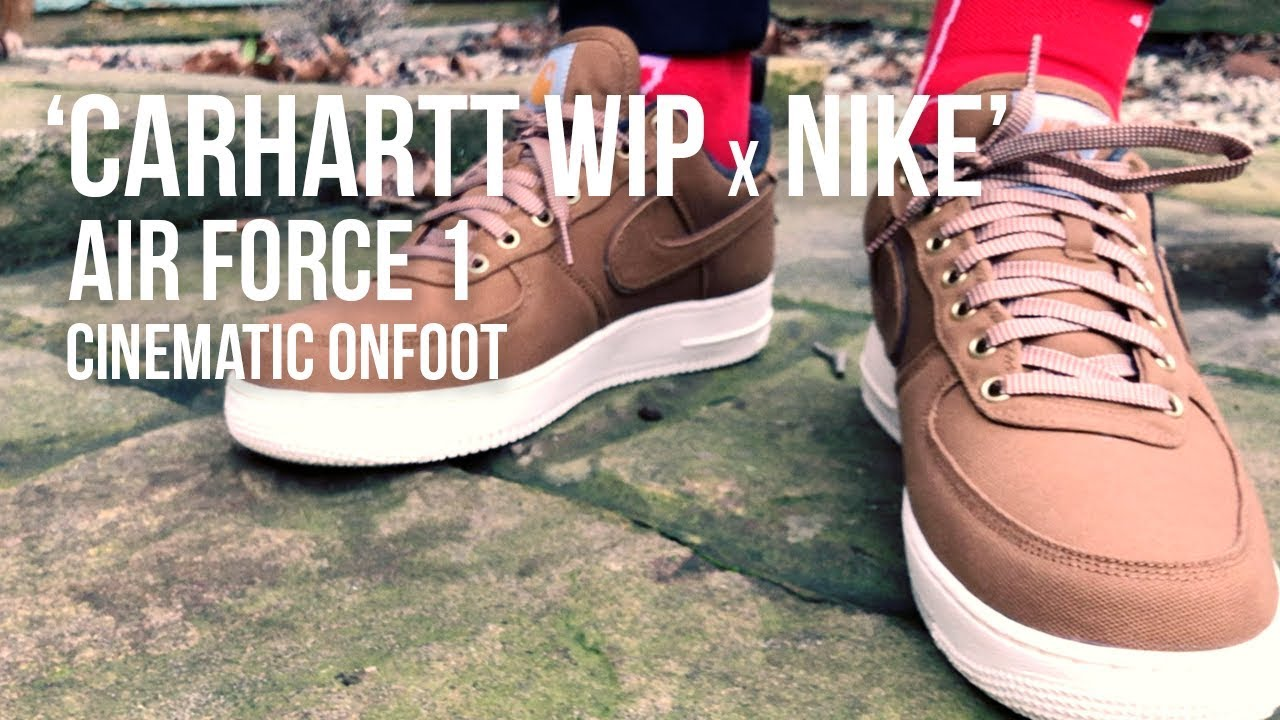 a142234fe8 Carhartt WIP x NIke Air Force 1 Cinematic On-foot Look — Pint of Stuff
