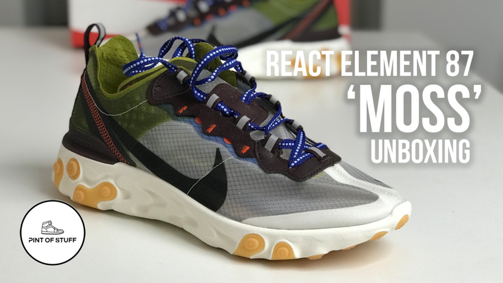 new styles a27e4 27e51 2 FUTURE 4 U - Nike React Element 87  Moss  Sneaker Unboxing
