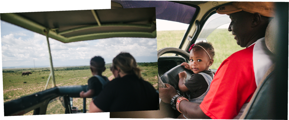 Spotting the almost extinct Black Rhino in the Masai Mara! I (Colin) definitely cried about it a few times. Char was also a great safari guide ;)