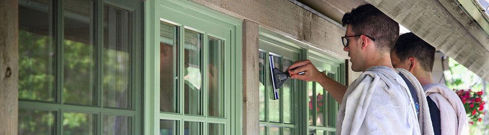 we hand clean windows -
