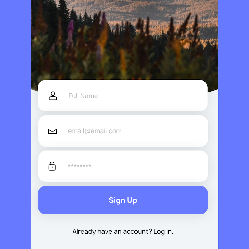 Download the app - Create an account with your school or organization email address