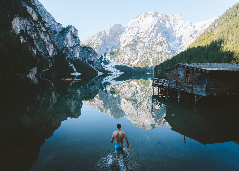 Swimming at Lago di Braies (1 of 1).jpg