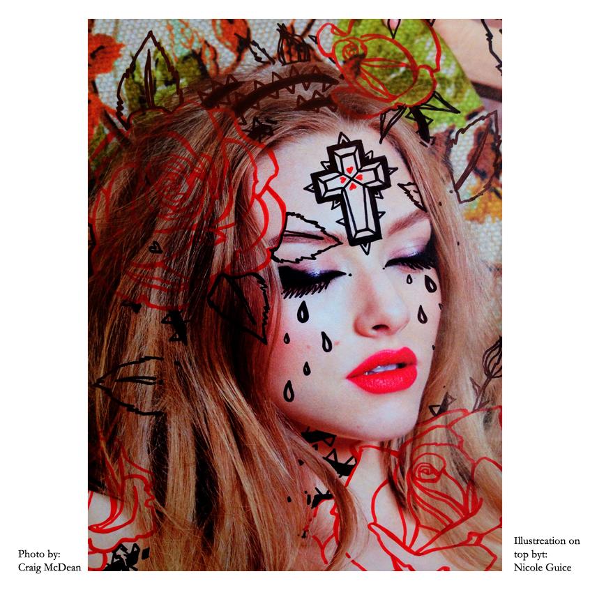 W Magazine_illograph_Amanda Seyfried_roses face_Nicole Guice.jpg