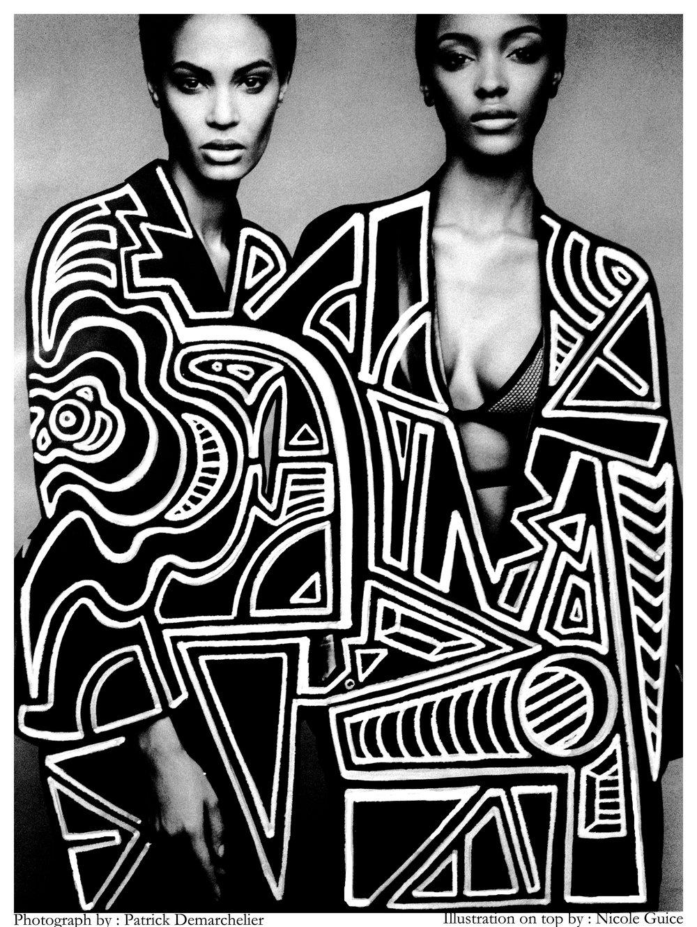 Joan Smalls and Jourdan Dunn W magazine editorial 2014_Illograph.jpg