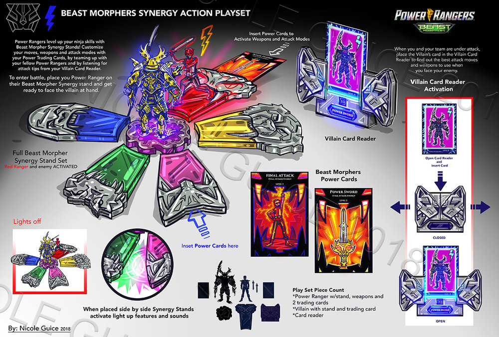 Power Rangers - Playset and Role Play CP Concept Spec Work