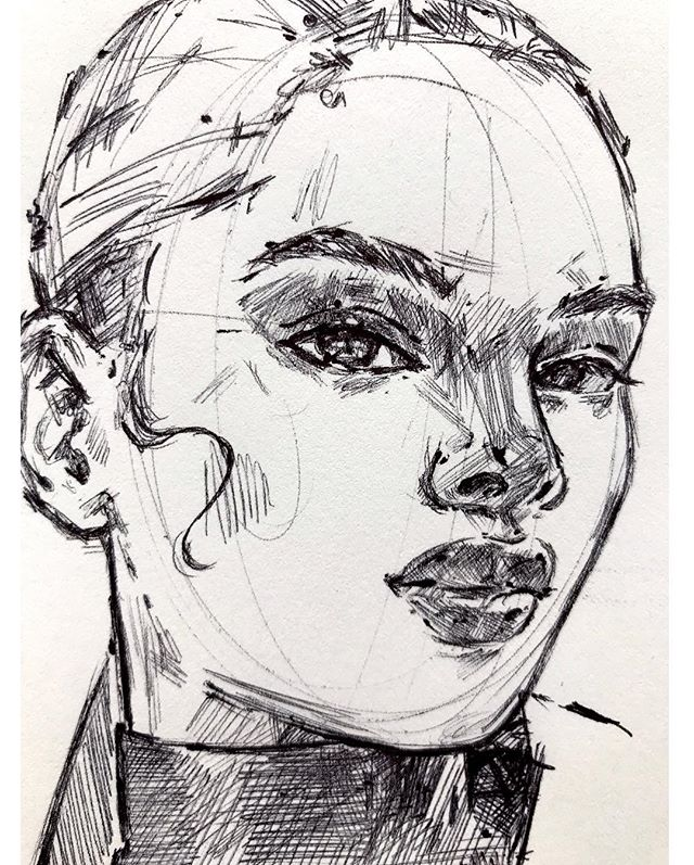 Ballpoint pen from the Vet x quick sketch. I love cheap ink pens. .  #ink #quicksketch #sketch