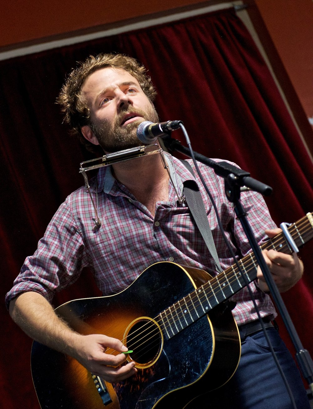 Taylor Goldsmith performs with Dawes at Cactus Music. August 23, 2011