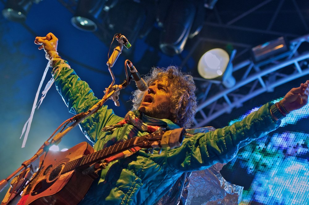 Wayne Coyne performs with Flaming Lips during Free Press Summer Festival, Houston, TX. June 2, 2012