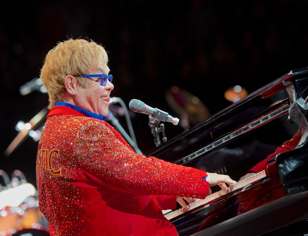 Elton John performs at Toyota Center, Houston, TX. March 28, 2013