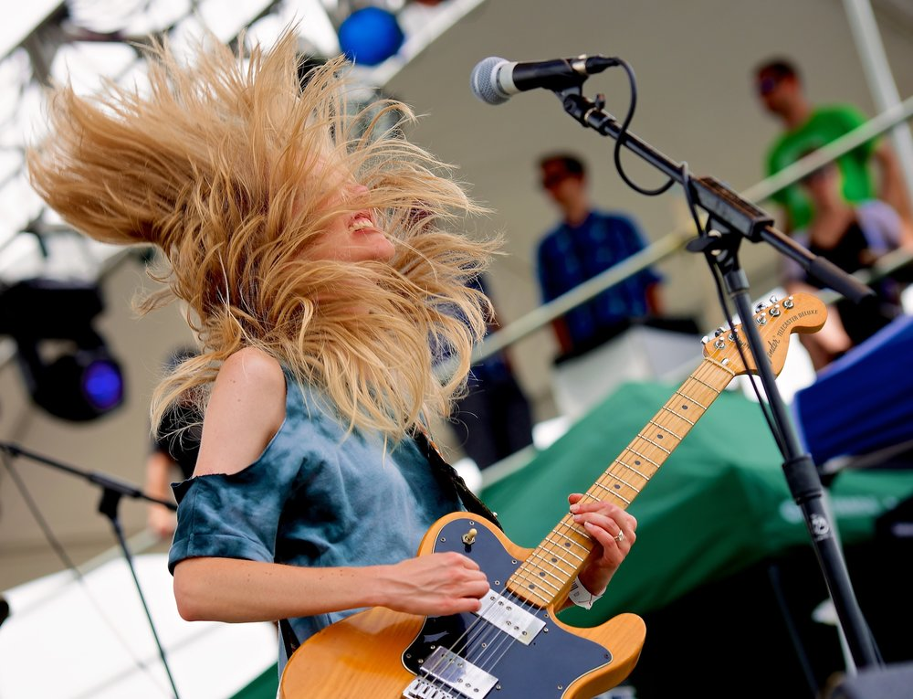 Ume's Lauren Larson performs during Free Press Summer Festival, Houston, TX. June 2, 2013