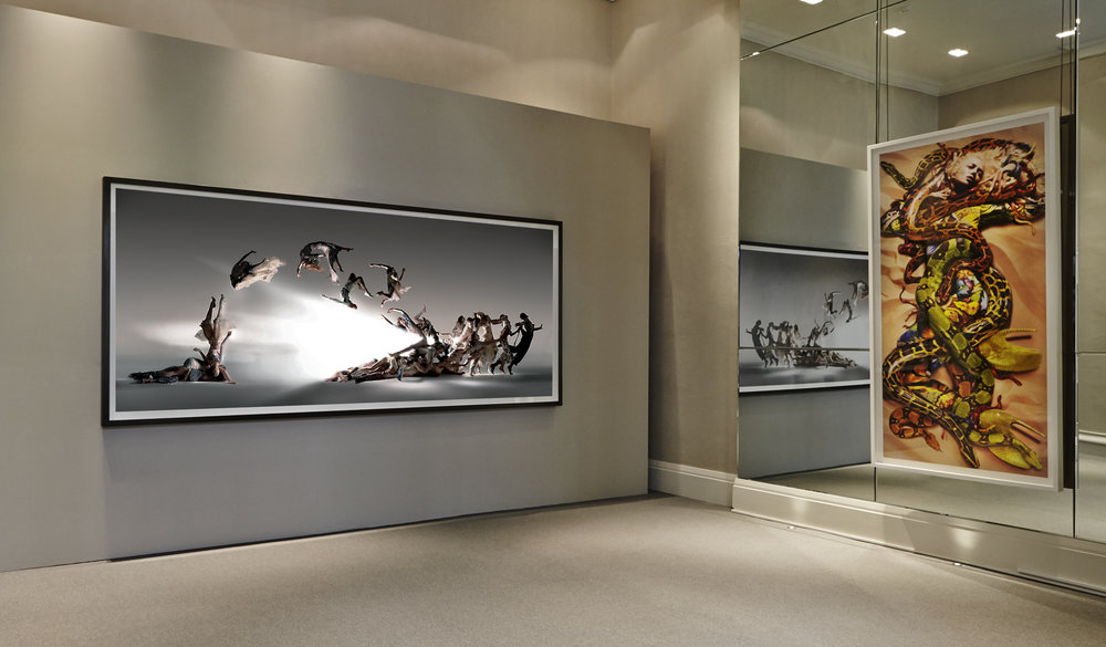 """Nick Knight, """"Blade of Light"""" 2004 and """"Alexander McQueen"""" 2009 in """"Nick Knight & Alexander McQueen"""" at SHOWStudio Shop, 2015"""