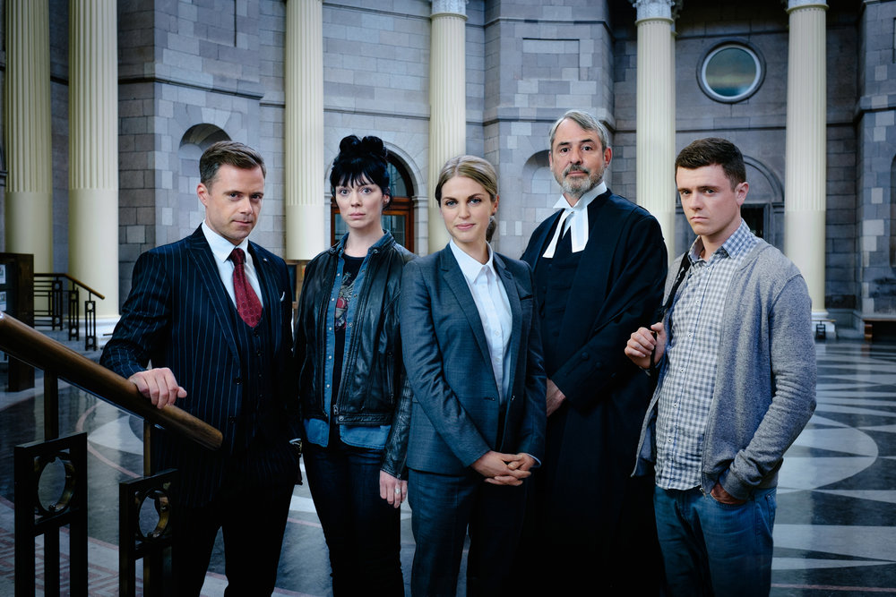 Cast of RTE's  Striking Out.