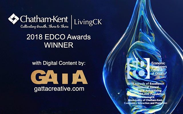 Our video won an award!!🍻Working with @chatham_kent marketing team on the #livingck campaign was a great excuse to use our talents to showcase our awesome community! 🎥link in bio🎥
