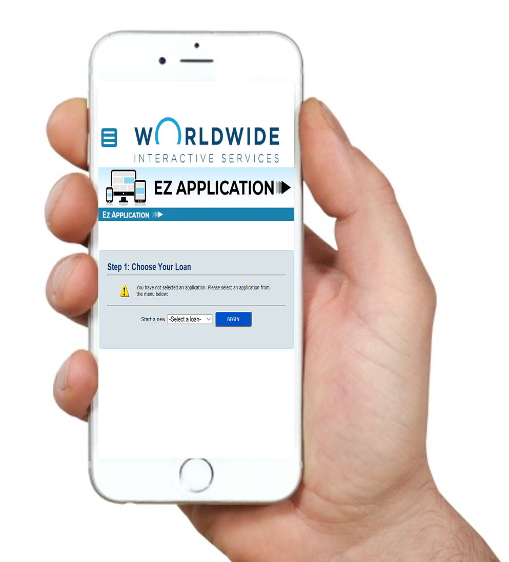 Apply for a loan or membership right from your app or browser. - Integrated. Easy. Application Software.