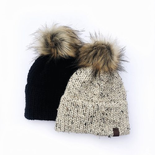 5c2e2d7d7dde2  Customize  Double Brimmed Chunky Knit Hat