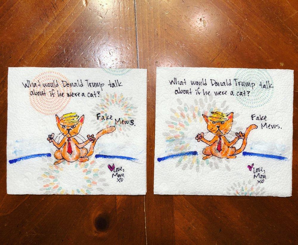 Daily Napkin Artwork for My Kids