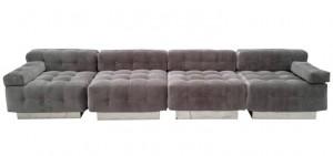 Four piece modular sofa
