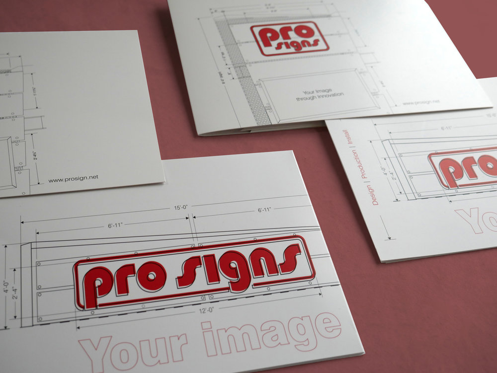 Pro Sign's Marketing Material