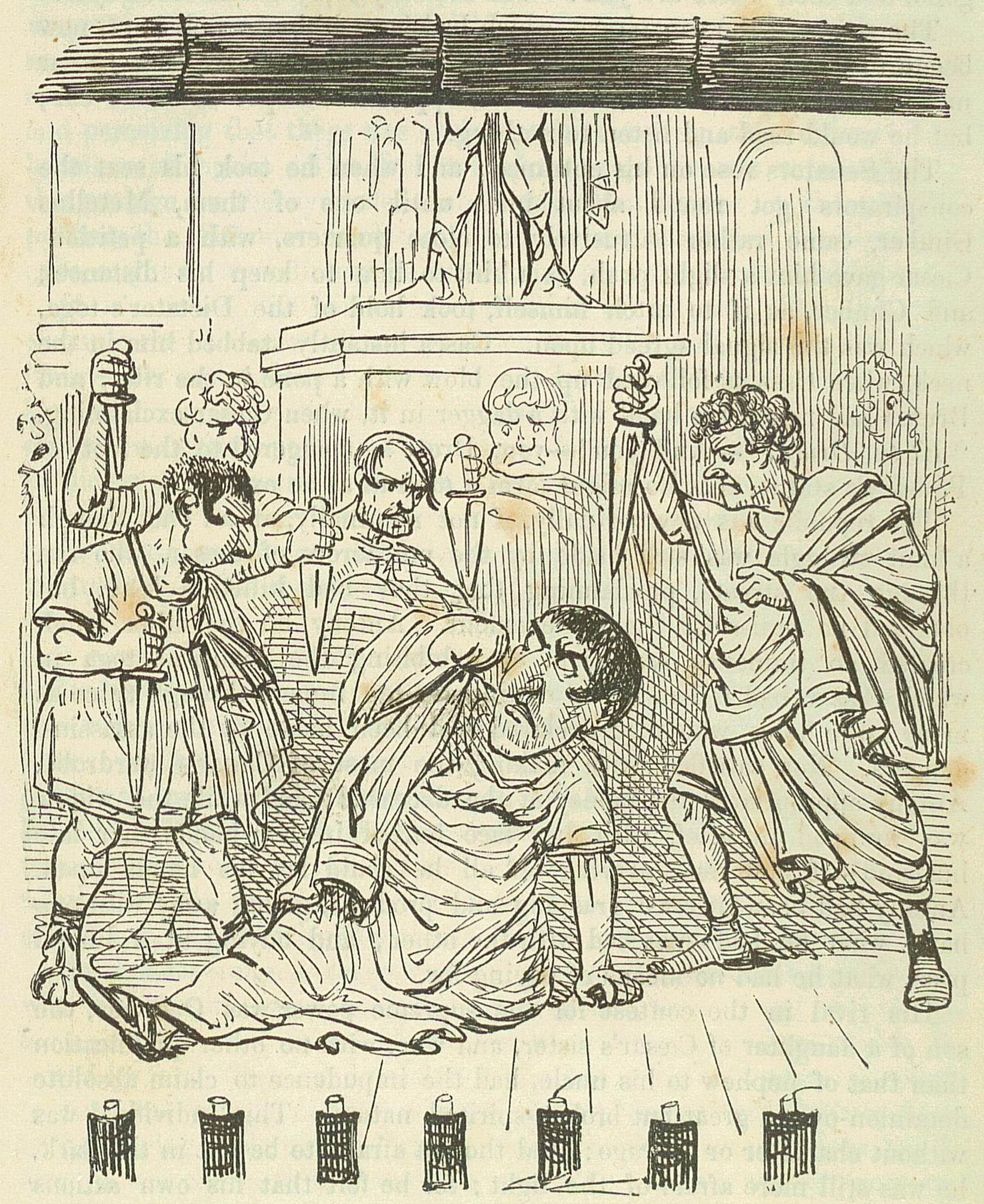 Caesar getting stabbed