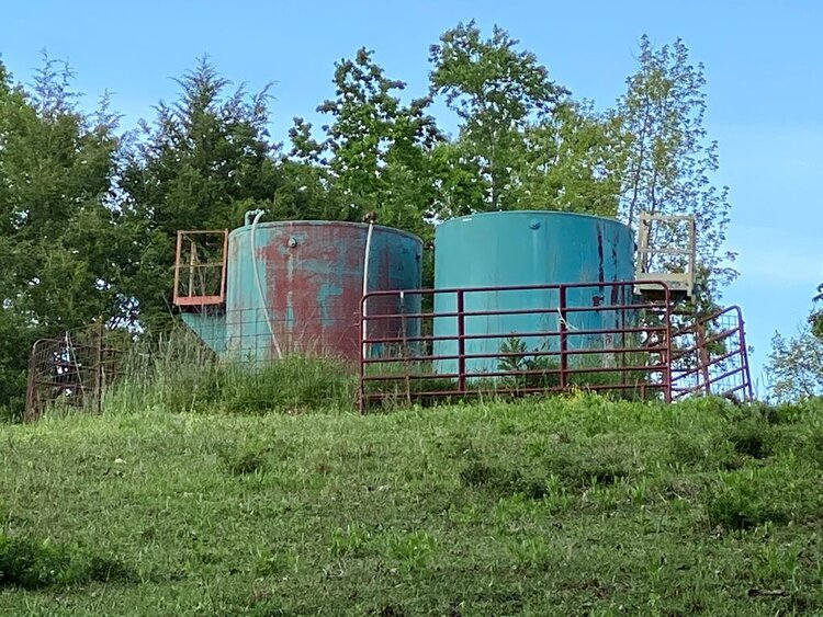 Two large tanks onsite in Livingston