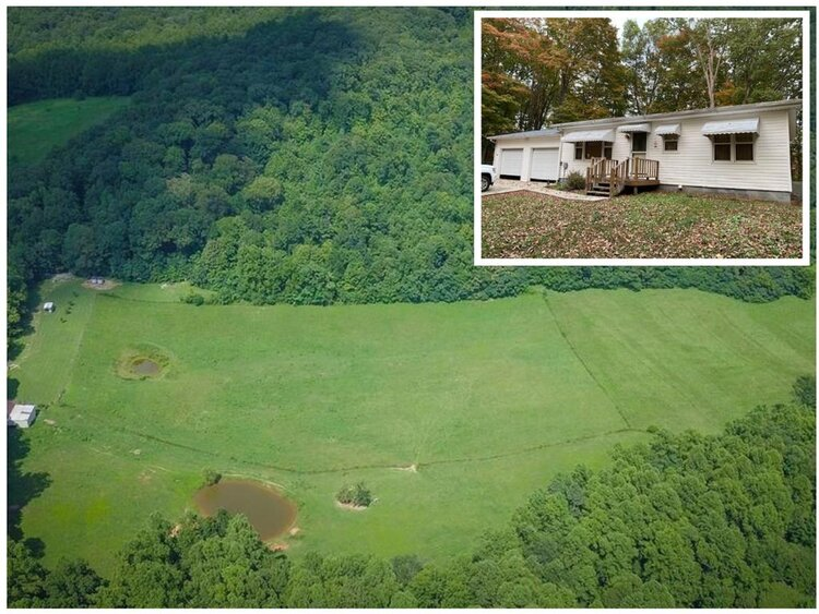 Aerial view of acreage in Allons, TN.