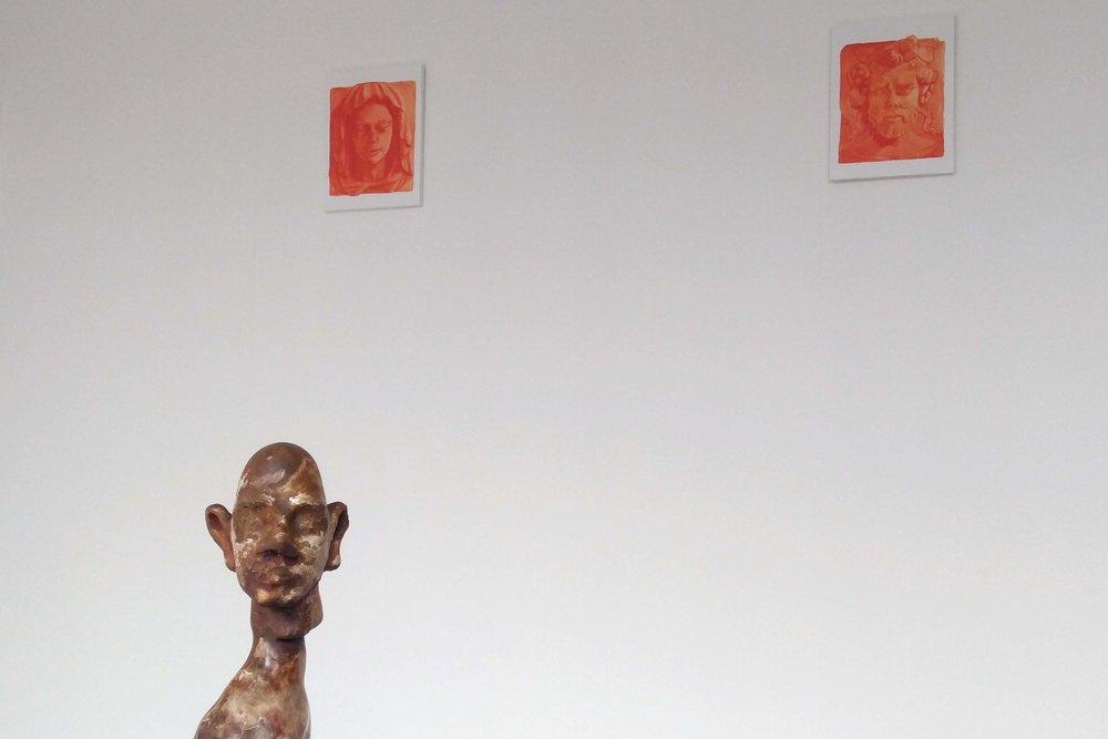 Jurnen Mester's sculture and Camilla Wilson's paintings