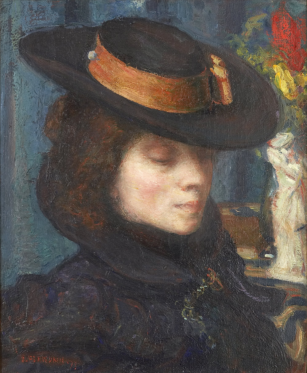 Jacqueline Marval par Jules Flandrin, 1889. 46 x 38 cm. Collection privée, Paris.